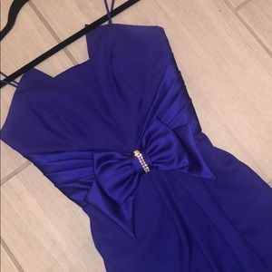 Barbi Jay vintage dress purple bow mini dress